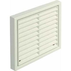 Fixed louvre grille, with round spigot, systems 4-6