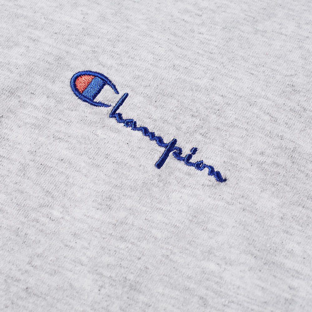CHAMPION LOGO T-SHIRT GRÅ