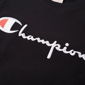 CHAMPION REVERSE WEAVE CLASSIC CREW SWEAT - BLACK