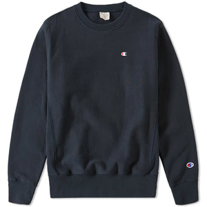 CHAMPION REVERSE WEAVE CLASSIC CREW SWEAT - NAVY