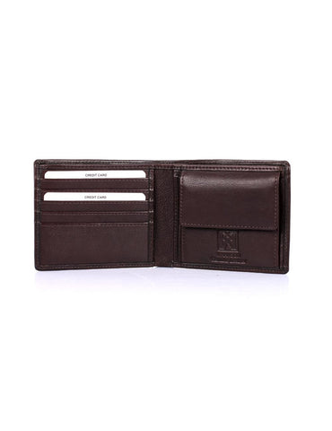 Men's RFID Leather Bifold Wallet with Coin Pocket - karlahanson.com