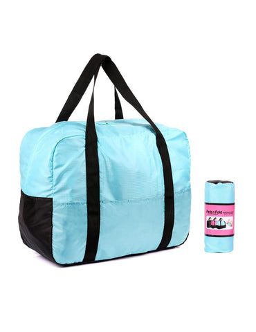 Pack n Fold Foldable Travel Duffel Bag Blue - karlahanson.com