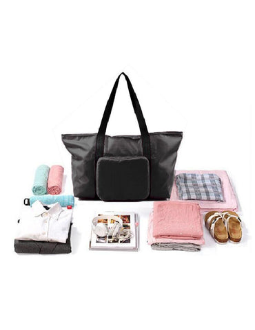 Pack n Fold Foldable Travel Tote Bag Black - karlahanson.com