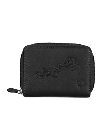 CANADA WILD Women's Leather Wallet Sea Otter - karlahanson.com