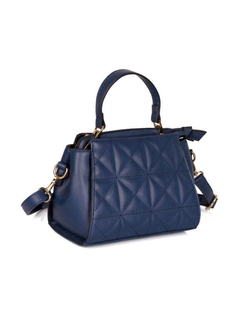 Florence Women's Quilted Crossbody Bag Navy - karlahanson.com