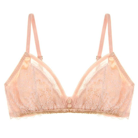 Pearly Silk Shell Pink Bralette