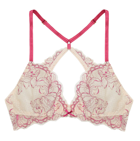 Lilac Berry Pink Triangle Bralette