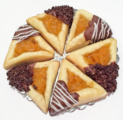 Apricot Hamantaschen - Chocolate Dipped - Classic Homeys