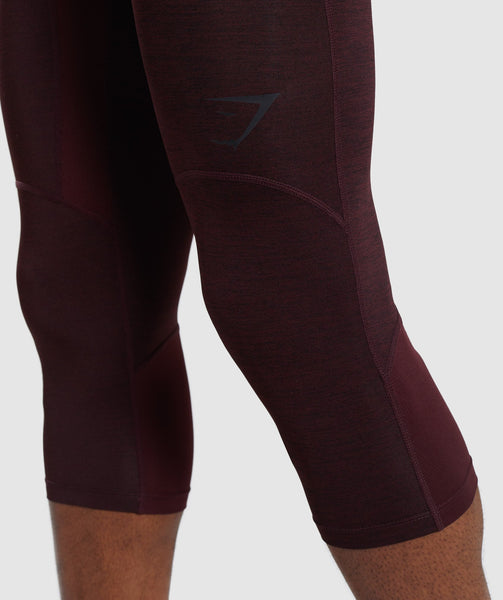 Gymshark Element+ Baselayer 3/4 Leggings - Ox Red Marl 4