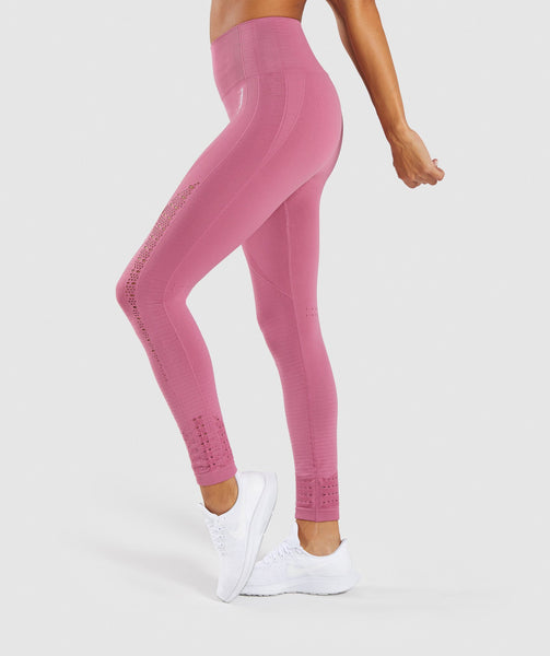 Gymshark Energy+ Seamless Leggings - Dusky Pink 2