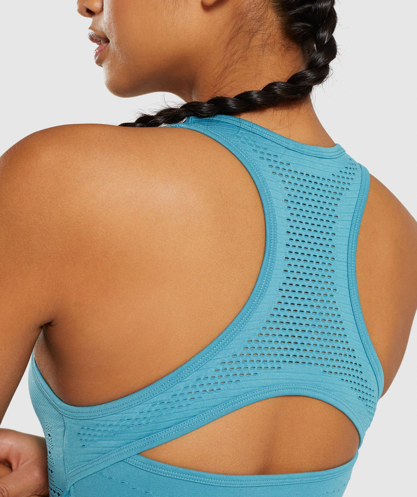 Gymshark Flawless Knit Vest - Teal 6