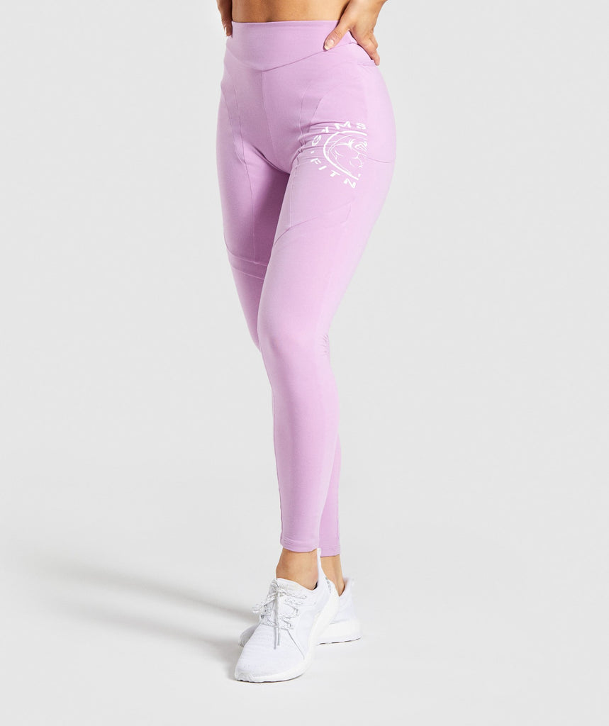 Gymshark Legacy Fitness Panel Leggings - Pink 1