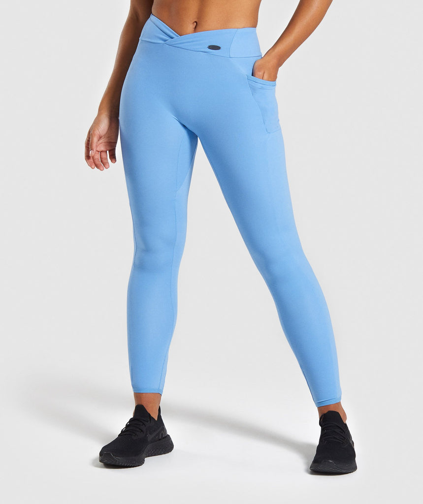 Gymshark Poise Leggings - Blue 1