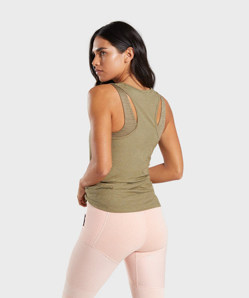 Gymshark True Texture Vest - Washed Khaki 1