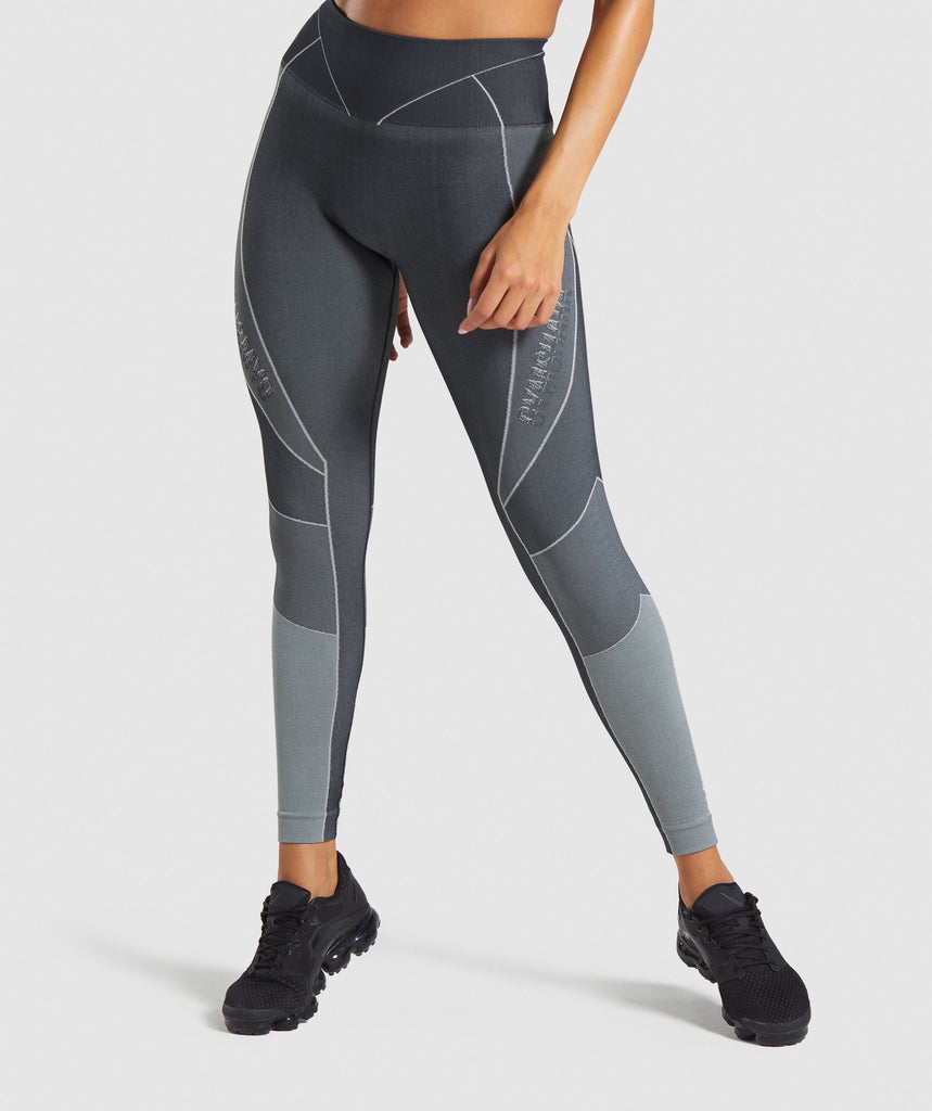Gymshark Turbo Seamless Leggings - Black 1