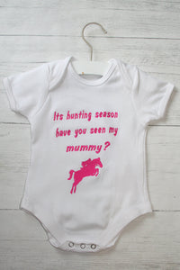 """Its hunting season have you seen my Mummy"" Baby Bodysuit"