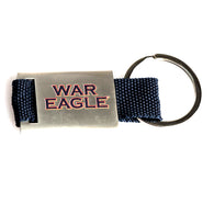 War Eagle Navy Fabric Keychain