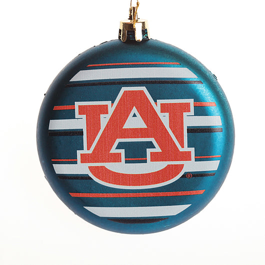 Auburn Blue AU Striped Ornament