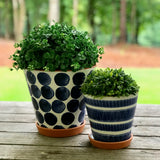 Porto Large Polkadot Flower Pot