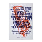 The Call Letterpress poster, white, framed