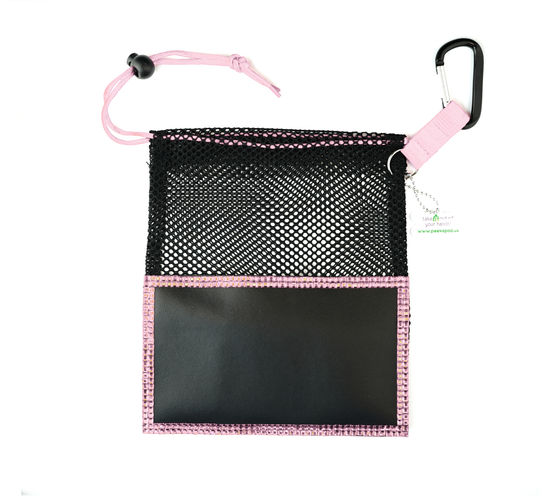 Pink Large Peek A Poo - Handy Mesh Carry All, for Dog walkers