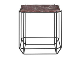 THE JEWEL SIDE TABLE MARBLE TOP BORDEAUX