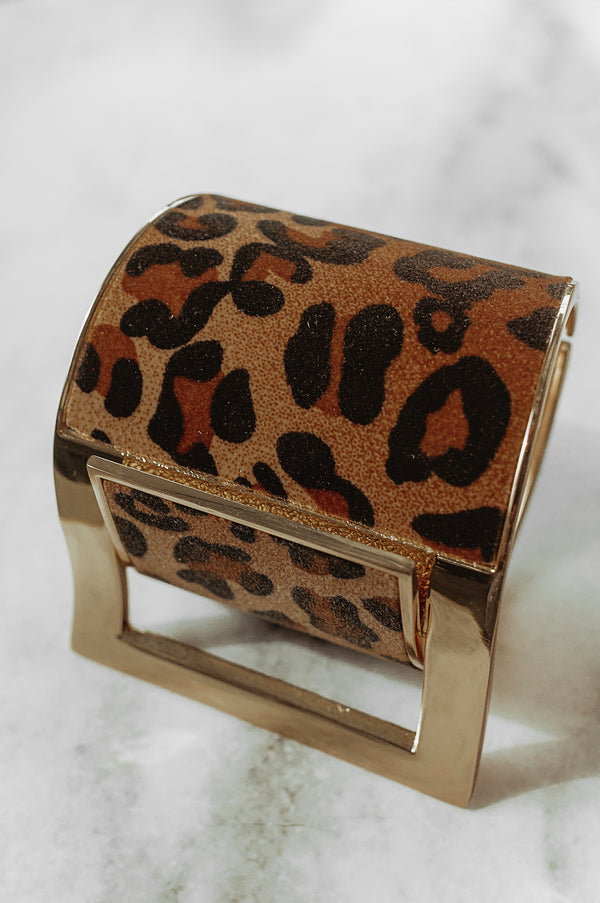 Leopard Buckle up Cuff