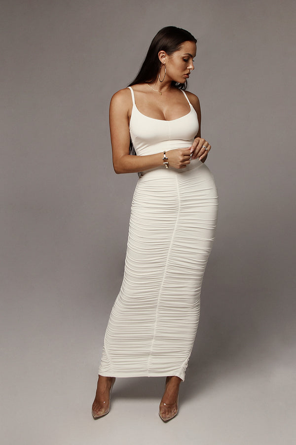Ivory Maloh Ruched Skirt