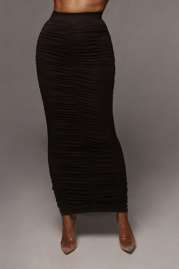 Black Maloh Ruched Skirt