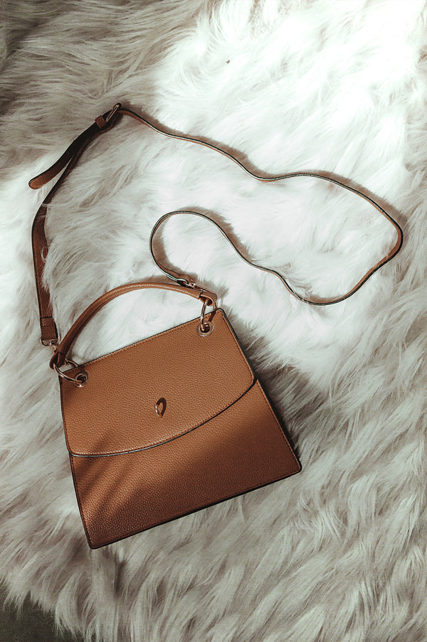 Brown In Tune Faux Leather Tote
