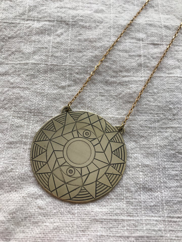 AJNA medallion mandala necklace