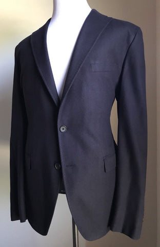 NWT $1395 Boss Hugo Boss T-Hawn Silk Sport Coat Jacket Blue 40R US (50R Eu)