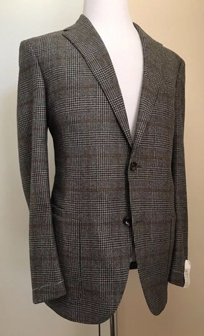 New $2486 Luciano Barbera Men Sport Coat Blazer Brown/Gray 44 US ( 54 Eur) Italy