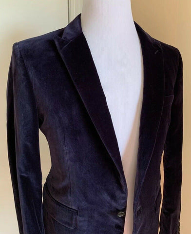 New $1595 Burberry Men Sport Coat Blazer Indigo Purple 40R US ( 50R Eu ) Italy