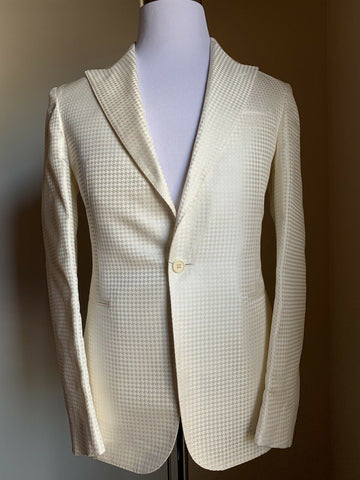 NWT $2995 Ralph Lauren Purple Label Mens Silk Sport Coat Blazer White 38R Italy