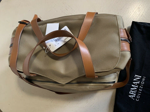 New $1495 Armani Collezioni Mens Holdall Travel Bag Green Italy