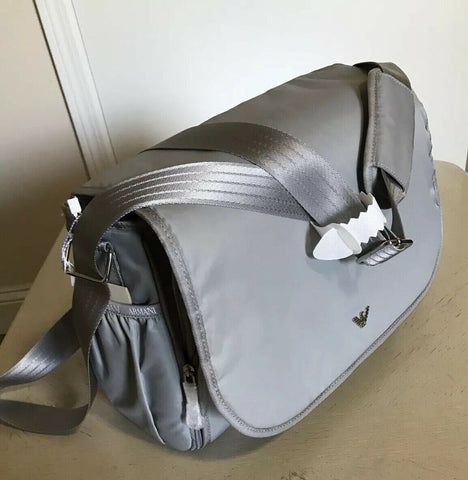 New $280 Armani Junior Baby Changing Bag Gray