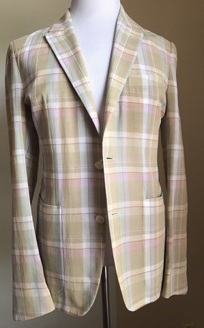 New $2695 Ermenegildo Zegna Couture Sport Coat Blazer Multi-Color 38 US (48 Eu) - BAYSUPERSTORE
