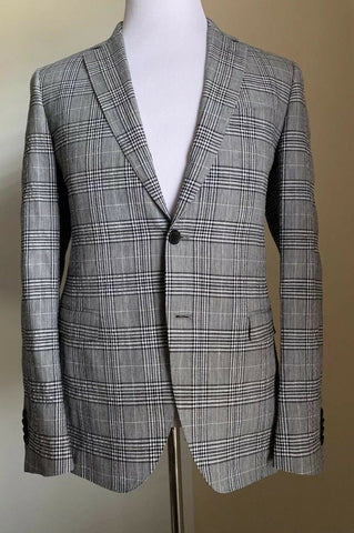 New $2370 Salvatore Ferragamo Sport Coat Blazer Gray/Black 38R US ( 48R Eur) Ita