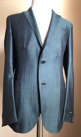 New $2995 Ermenegildo Zegna Slim Fit Sport Coat Blazer Blue 42 US (52 Eur) Italy