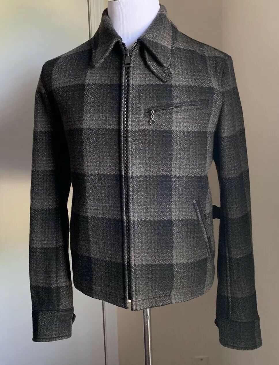 New$2495 Ralph Lauren Purple Label Men Jacket Coat Dark Gray Size S Italy
