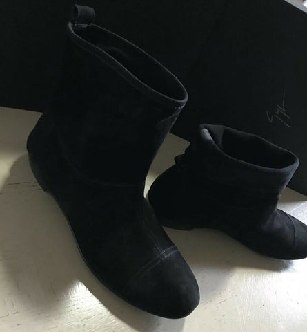 New $915 Giuseppe Zanotti Mens Suede Boots Shoes Black 10 US ( 43 Eu ) Italy