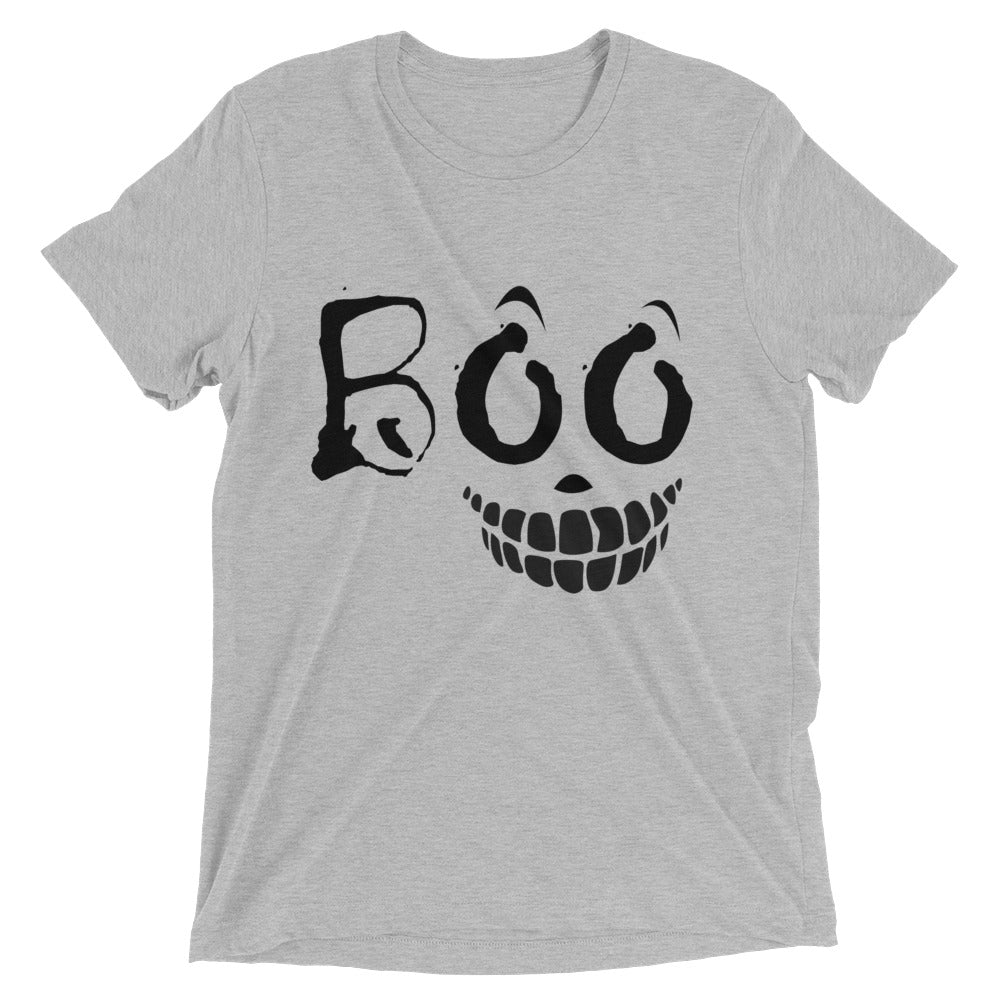 Bella Tri-blend 'BOO' Short Sleeve T-Shirt Made in USA - BAYSUPERSTORE