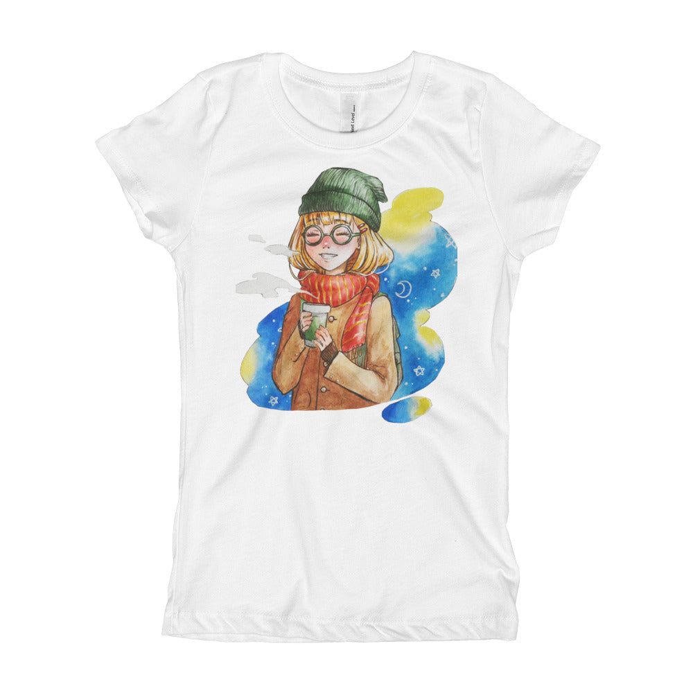 Next Level 'Anime Simple Girl' Girl's T-Shirt - BAYSUPERSTORE