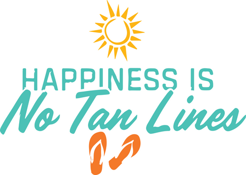 5 Pack of Happiness Is No Tan Lines Stickers