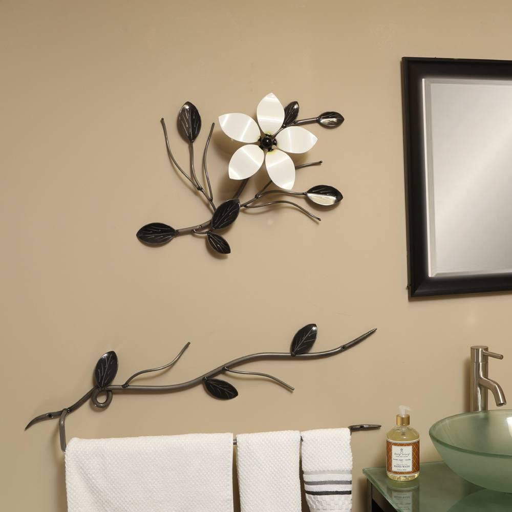 Decorative Metal Flower Vine: Flower Wall Art For Exterior & Interior Decor / Décor
