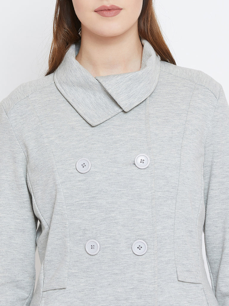 Grey Double Breasted Jacket