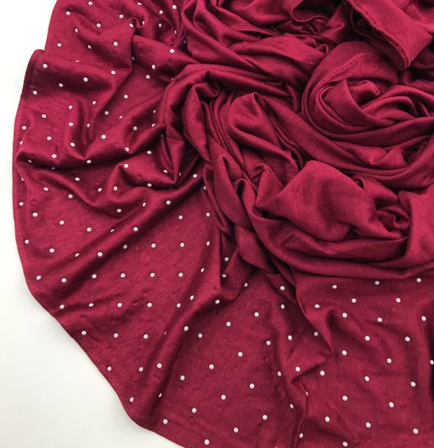 Pearl jersey ( NEW ARRIVAL) - Burgundy