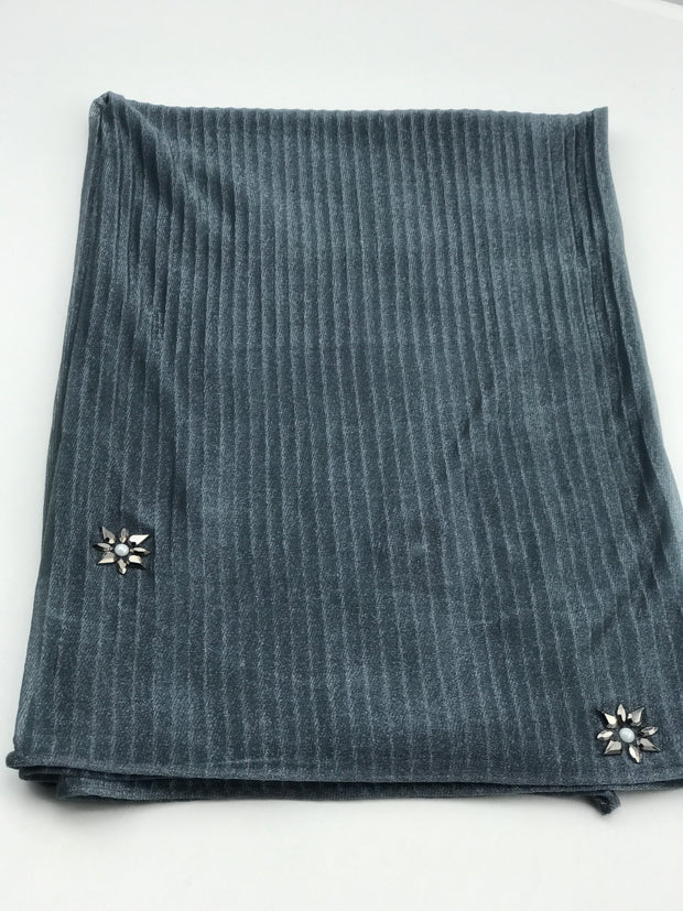Cashmere pleated chiffon - stone grey (2 pieces available)