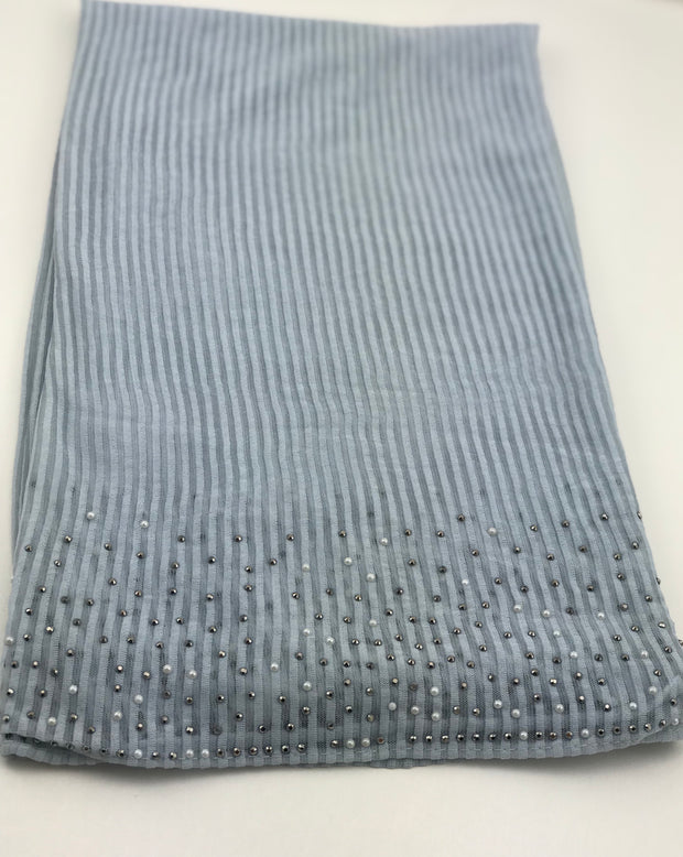 Cashmere pleated chiffon - silver grey (NEW ARRIVAL)